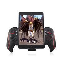 kontrolör oyun sahası toptan satış-Kablosuz Bluetooth Game Controller Gamepad Teleskopik Joystick Kolu Desteği IOS Sistemi Için Android Için 5-10 Inç Ipad Telefon Tutucu