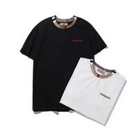 t shirt yeni stil tasarımları toptan satış-Tasarımcı erkekler T gömlek son yeni stil marka yumuşak yuvarlak boyun kısa kollu lüks T tasarım kendi T basit tasarım gömlek marka