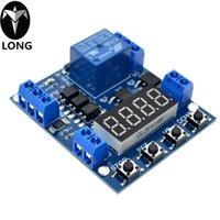 interruptores de voltaje controlado al por mayor-Pantalla LED de 5 V Temporizador de retardo digital Relé Interruptor de control Voltaje del módulo Límite superior e inferior Ciclo de detección Conteo de temporización