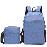 koreanisch schulranzen-set großhandel-2 stücke Set Reiserucksack Männer Multifunktionale Koreanische Mode Stil Laptoptasche Schultaschen Rucksäcke Rucksack Männlichen Business Bag