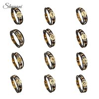 zodiac sign bracelets großhandel-Mode Bronze Alloy Buckles 12 Sternzeichen Armband Konstellationen Lederarmband Holzperle Charms Schmuck