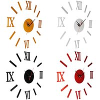 Wholesale safe clock for sale - Group buy DIY D Analog Wall Hanging Clock Sticker Living Room Office Decal Decoration Made of safe strong adhesivity not easy to fall out