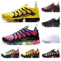 mavi üzüm toptan satış-Nike Vapormax TN Sıcak moda TN Artı Koşu Ayakkabıları Gökkuşağı BETRUE Smokey Leylak rengi Oyunu Kraliyet Üzüm Fades Mavi erkek ayakkabı kadın tasarımcı spor ayakkabı 36-45