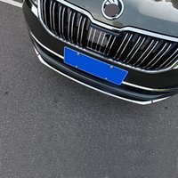 Wholesale front bumper trim for sale - Group buy JY SUS304 Stainless Steel Front Bumper Trim Lower Car Styling Cover Accessories For SKODA KAROQ