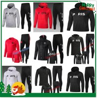 Wholesale tracksuits jacket online - PSG Paris hoodie soccer jacket psg tracksuit football jacket MBAPPE champion Survêtement Jordam X psg hoodie