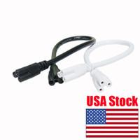 enchufe de clavija al por mayor-T8 T5 LED Lámpara fluorescente integrada Cable de tubo Enchufe de EE. UU. Conector Enchufe de 3 clavijas de EE. UU. Cable de alimentación de CA Adaptador de carga Blanco o negro