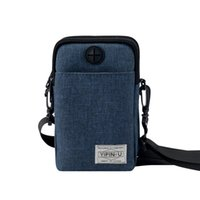 Wholesale trading card holders for sale - Group buy Yipinu travel halter documents Foreign trade passport bag multi functional phone bag cross body shoulder card holder running
