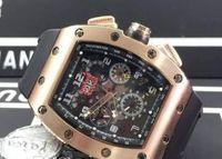 ingrosso orologio meccanico automatico a scheletro d'oro-Orologio da uomo automatico in oro rosa con data tonneau, data da uomo, orologio da polso meccanico, cinturino in pelle, orologio da uomo, movimento automatico