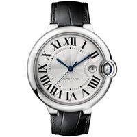 deri beyaz adam izle toptan satış-rolex patek philippe AP Designer Watches Toptan Erkek İzle 100 XL İzle Otomatik BALLON siyah deri beyaz yüz 316 Narin Çelik kasa Spor İzle erkekler kol