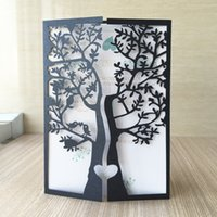Wholesale invitation cards designs for sale - Group buy Chic Tree love Bird Design Laser Cut Pearl paper Wedding Invitation Cards Party Decoration Birthday Party Invitation Greeting Card