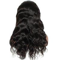 brazilian bakire vücut dalgası dantel ön toptan satış-360 Frontal Dantel Peruk vücut dalga tutkalsız brezilyalı Saç Peruk Bakire 360 tam dantel İnsan saç Peruk 150% Yoğunluk doğal Saç