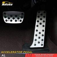 подставка для ног для автомобилей оптовых-Для Lexus RX300 RX200t RX450h 2015-2019 автомобилей Стайлинг Accelerator Foot Rest педаль тормоза крышки уравновешивания Аксессуары для интерьера