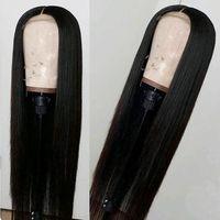 indisches weiches haar großhandel-RXY Raw Virgin Indisches Haar Gerade 13x6 Lace Frontal Perücken Gerade Menschenhaar Lace Front Perücken Lange Weiche 10a Grade Indische Gerade Perücke