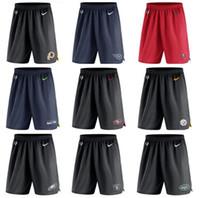 shorts de filadélfia venda por atacado-Tennessee Tampa Seattle Francisco Pittsburgh Filadélfia Homens Eagles Steelers 49ers Seahawks Bay Titans Tricotar Calções