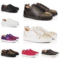 обувь для шипов онлайн оптовых-Модельера LUXURY сек шипованных Шипы Flats обувь для мужчин Женщины черный Сияющий партии любителей случайных кроссовки продажи онлайн