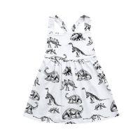Wholesale dinosaur baby clothing print resale online - CHAMSGEND Summer Toddler Infant Baby Girls Dress Cotton Blend Cartoon Dinosaur Print Dresses Clothing Outfits FEB6 P30