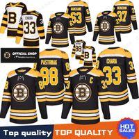 sevkıyat hokeyi formaları bırak toptan satış-Boston Bruins 33 Zdeno Hara Jersey 37 Patrice 88 David Pastrňák 63 Brad Marchand 4 Bobby Orr Hokeyi Formalar 2019 Yeni% 100 Dikişli