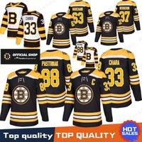 Boston Bruins 33 Zdeno Chara Jersey 37 Patrice 88 David Pastrnak 63 Brad  Marchand 4 Bobby Orr Hockey Jerseys 2019 New 100% Stitched 187272de7