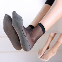 Wholesale womens sock for sale - Group buy 1 Pairs Women Ultra Thin Elastic Silk Girl Short Ankle Low Cut Socks Fashion Womens Short Silk Socks