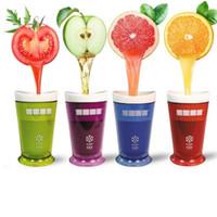 buz bardağı kalıpları toptan satış-Milkshake Smoothie Slush Shake Maker Fincan Dondurma Kalıpları Popsicle Kalıpları Freeze Dondurma Makinesi Araçları Meyve Smoothie EEA181