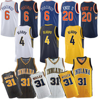 888d020b8a5 Indiana 31 Miller PACERS Pacers 4 Oladipo jerseys Reggie 20 Knox jersey 6  Porzingis Knick jerseys basketball jersey 2019-2018 new top cheap
