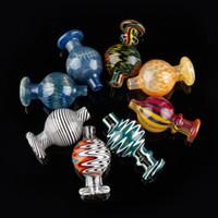 ingrosso bobina di chiodo bong-Commercio all'ingrosso 8 stile colorato tappo di gomma cap bolla di vetro palla rotonda per 25mm quarzo Banger unghie battibecchi Dab olio Rigs blu rosa