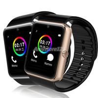 браслет bluetooth часы для iphone оптовых-GT08 Bluetooth Smart Watch с слотом для SIM-карты и NFC Health Watches для Android Samsung и IOS Apple iPhone смартфон браслет