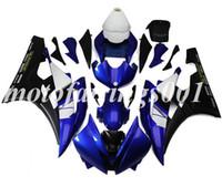 ingrosso corredo di corsa di yamaha r6-(Stampo per iniezione) Kit carene integrali ABS nuovo stile adatto per Yamaha YZF-R6 R6 2006 2007 06 07 Carenatura Carrozzeria set Racing blu