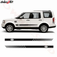 Wholesale range rover discovery for sale - Group buy 2pcs Car Styling Auto Body Side Skirt Vinyl Decals Racing Sport Stripes Stickers For Discovery Range Rover Sport
