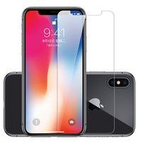 cristal claro delantero iphone al por mayor-Funda protectora de cristal templado amigable para Iphone XS MAX XR 7 8 Plus, cubierta transparente para teléfono inteligente para Samsung A10 30 50