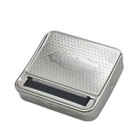 liar cigarrillos automáticos al por mayor-Podemos personalizar su logotipo Automático Cigarrillo Tabaco Rolling Rolling Machine Box Metal 70mm MASCOTTE Tin Cigarette Roll Box