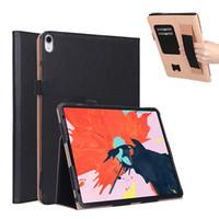 книжные стойки оптовых-Роскошный бизнес Flip Book PU чехол с подставкой для iPad Pro 12,9-дюймовый планшет 2018 с ремешком + слоты для карт