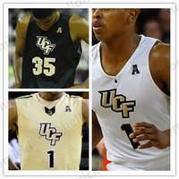ingrosso pullover da basket oro nero-Custom UCF Knights 10 Dayon Griffin 21 Chad Brown 24 Tacko Fall College Basket Qualsiasi nome numero Oro Bianco Nero Maglia da uomo per giovani