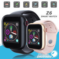 Wholesale bluetooth smart watch for android resale online - Z6 smartwatch for apple iphone Smart Watch Bluetooth watches with camera Supports SIM TF Card for android smart phone PK DZ09 A1