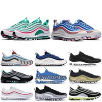 Wholesale top table tennis shoes for sale - Group buy Men Women OG X undftd black white running shoes silver bullet iridescent top quality Designer Shoes south beach Mens Sneakers