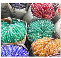 kristal yüzlü bisiklet toptan satış-4mm 110 adet AB renkler Bicone Gevşek Spacer Boncuk Cam Kristal Faceted Rondelle Boncuk Takı yapımı için
