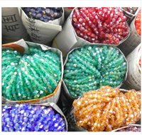 4mm bikonkristalle großhandel-4mm 110 stücke AB farben Bicone Lose Distanzscheibe Korne Glas Kristall Facettierte Rondelle Perle für schmuck machen
