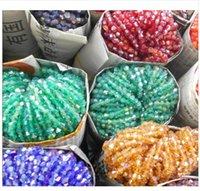 perlas de cristal de rondelle al por mayor-4mm 110 unids AB colores Bicone suelta espaciador de los granos de cristal facetado Rondelle Bead para la joyería que hace