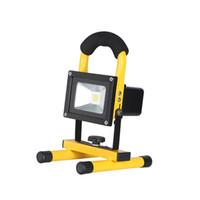 reflector recargable ip65 al por mayor-Focos LED recargables portátiles, luz de inundación de emergencia, luces para acampar al aire libre, lámpara de trabajo móvil, luz de advertencia a prueba de agua