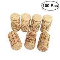 100pcs set Wine Cork Reusable Creative Functional Portable Sealing Natural Oak Wine Cork Bottle Cover Wooden Sealing Caps Bar Tool