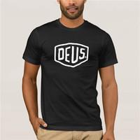 ingrosso affare macchina-Magliette divertenti Deus Ex Machina Shield Moda Personalità Originalità Grafica T-shirt da uomo