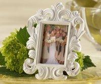 tarjeteros de lugar barroco blanco al por mayor-Marco de fotos blanco barroco portarretrato de tarjeta de boda
