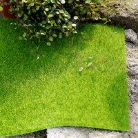 ingrosso tappeto falso-Micro Paesaggio Decorazione 30 * 30 cm Fai Da Te Mini Fata Giardino Piante di Simulazione Artificiale Falso Muschio Decorativo Prato Erboso Erba Verde C19041302