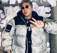 verdickende oberbekleidung groihandel-18FW Box Logo Papier unten Jacke Nuptse Daunenjacken beiläufigen Winter warm verdicken Brot Daunenmantel Fashion Street Oberbekleidung HFLSYRF068
