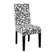 restoran kapak koltuğu toptan satış-Sıkı Yemek Sandalye Kapak Kısa Sandalye Yıkanabilir Koruyucu Koltuk Slipcover Düğün Parti Restoran Ziyafet Ev Aralık Için