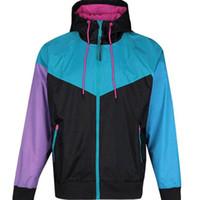su geçirmez kadın ceketi toptan satış-Ücretsiz kargo Güz ince windrunner Erkek Kadın spor yüksek kaliteli su geçirmez kumaş Erkekler spor ceket Moda fermuar hoodie S-2XL