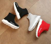 erkekler moda çorapları toptan satış-2019 Çocuk spor ayakkabı Moda Çocuk çorap ayakkabı nefes kaymaz erkek kız çocuklar için rahat koşu ayakkabıları EUR26-36