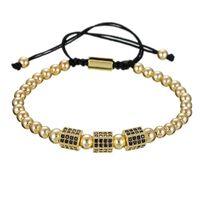 Wholesale hexagon beads silver for sale - Group buy 2019 New Unisex Micro CZ Hexagon Bracelet Copper Beads Luxury Designer Jewelry Fashion Woven Women Women Mens Bracelets Gift