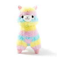 Wholesale valentine stuff toys resale online - 20cm Soft Cotton Rainbow Alpaca Stuffed Plush Toy Doll Rainbow Horse Lama Animals Toys For Children Birthday Christmas Gifts