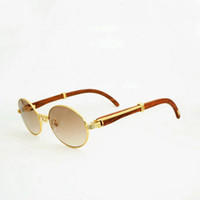 мужчины круглые старинные очки оптовых-Vintage Black Wooden Sunglasses Men Round Wood Eyewear For Outdoor Sun Glasse Accessories Clear Glasses Frame Oculos Gafas Women